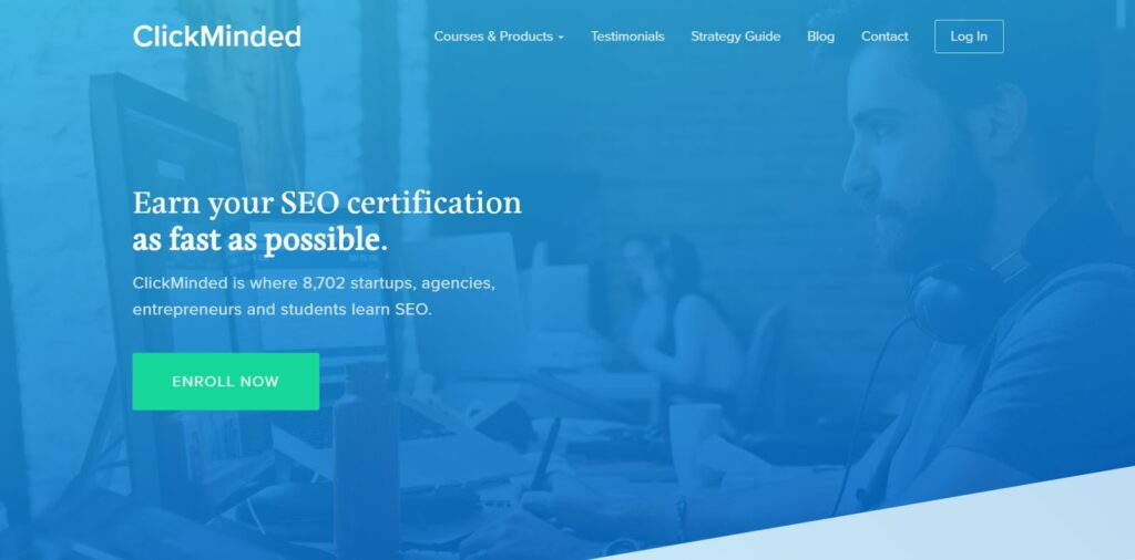 click minded seo course