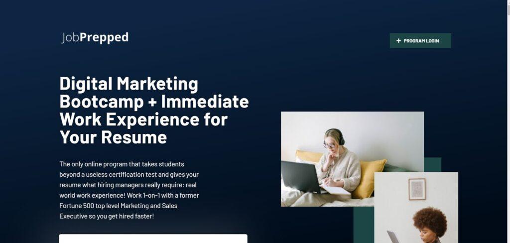 Digital marketing bootcamp from JobPrepped
