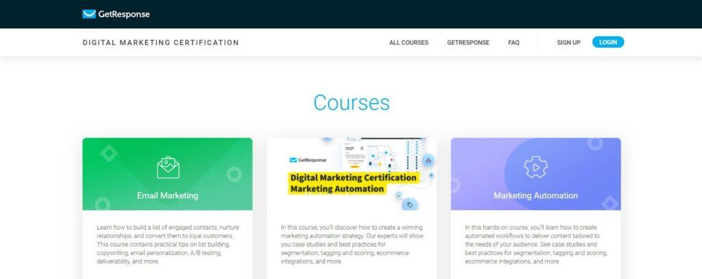 getresponse digital marketing course