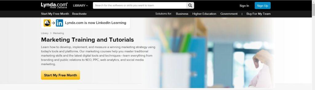 Lynda top digital marketing course