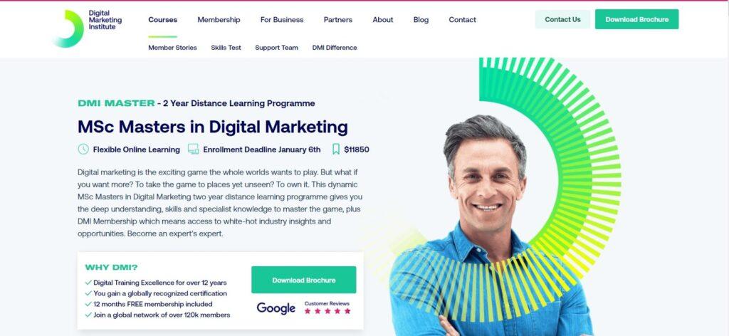 Masters in digital marketing - digital marketing institute