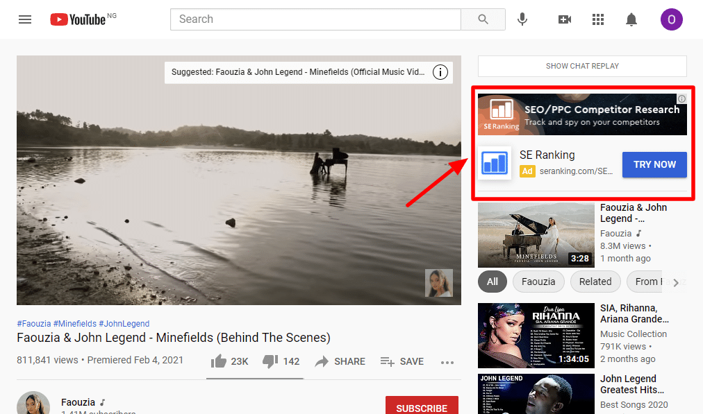 overlays and banner ads in Youtube