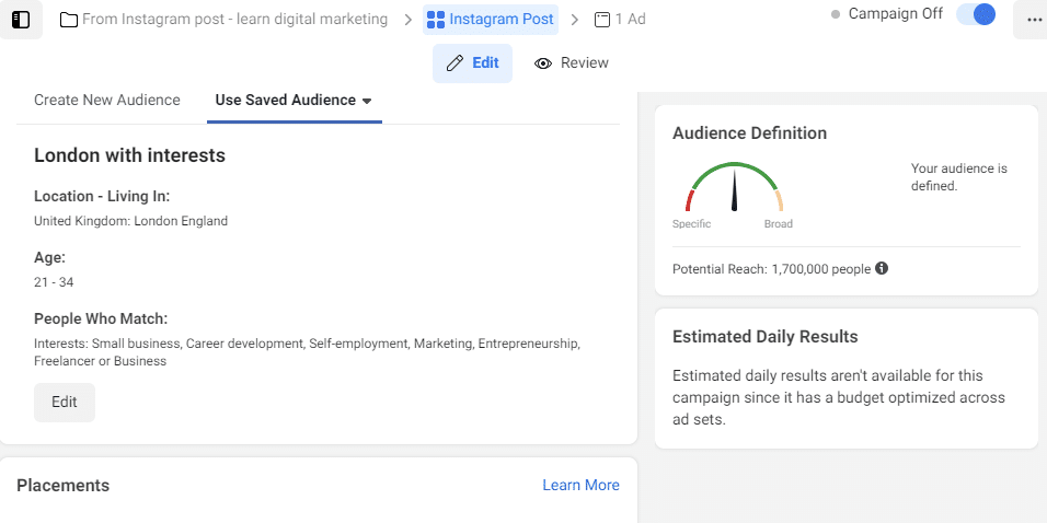 facebook ad interest digital marketing guide